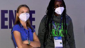 Greta Thunberg và Vanessa Nakate, hai nhà hoạt động môi trường trẻ nổi tiếng