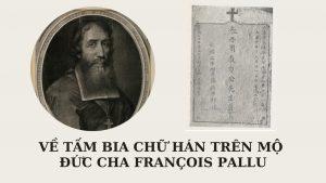 bia mộ đức cha francois pallu 4