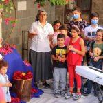 Trẻ em tham gia chiến dịch lần hạt Mân Côi của ACN